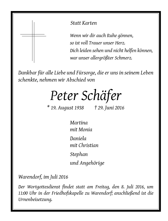 Schaefer, Peter