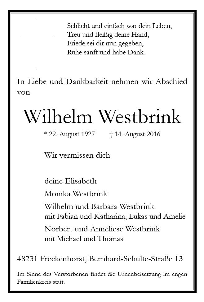 Westbrink, Wilhelm