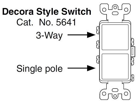 leviton 5641 decora combination stacked single pole / 3way switch