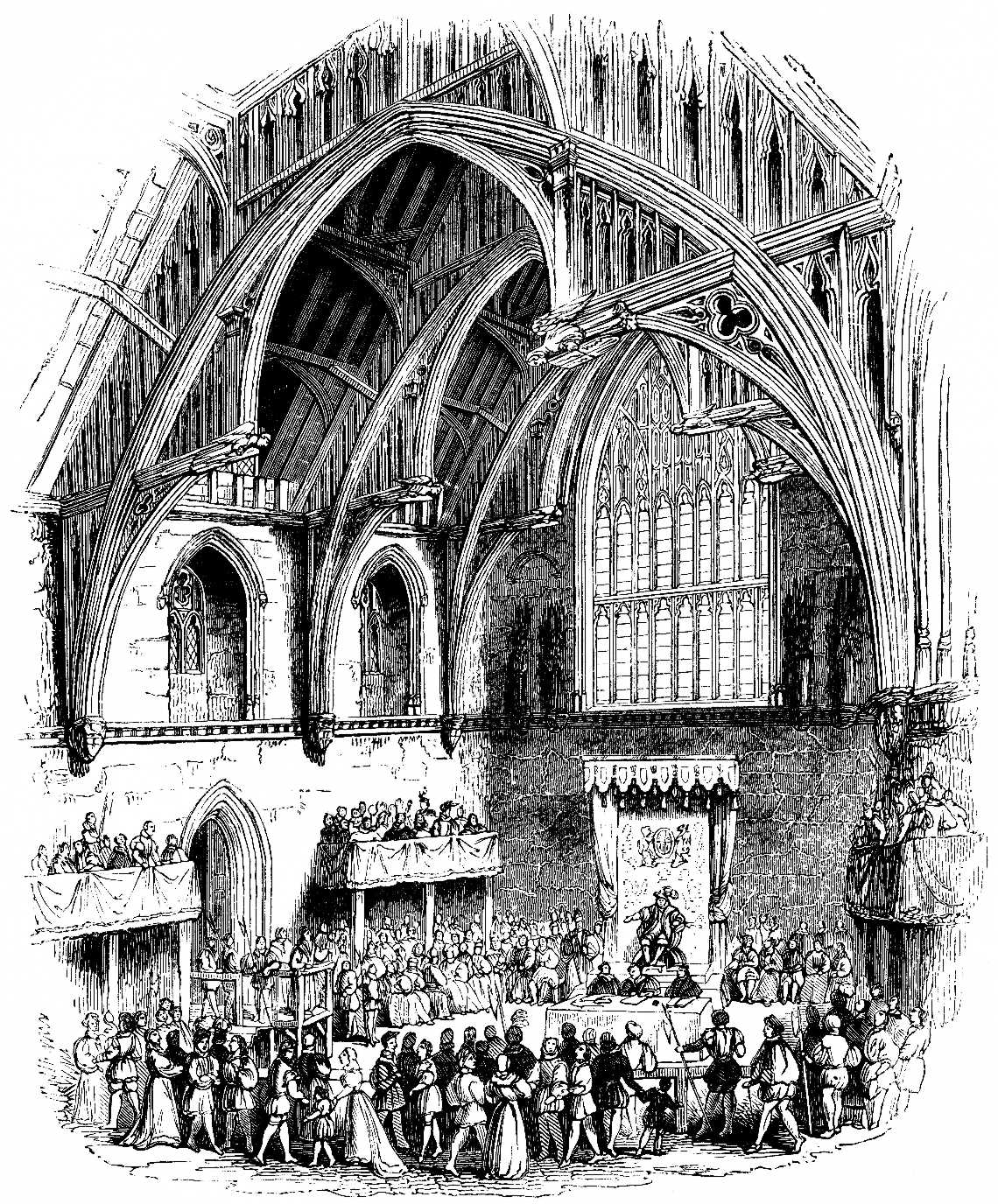 Interior of Westminster Hall