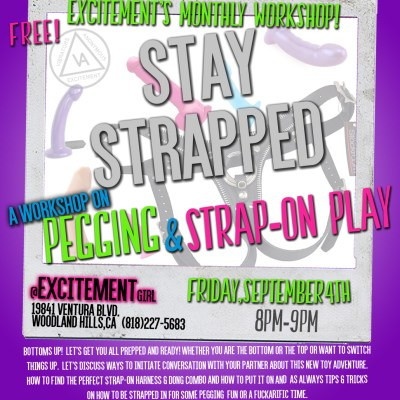 Stay Strapped: A workshop on Pegging & Strap-on Play
