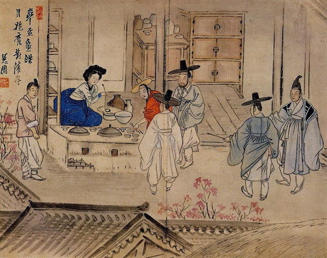 Eighteenth century Korean painting showing haejang