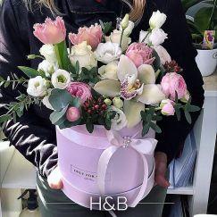 orchidea szellőrózsa virág box