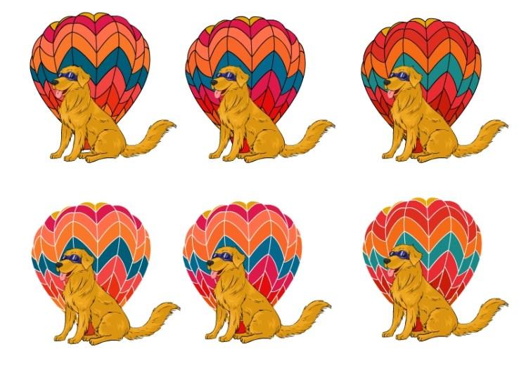 A logo design I did for Sun Dog Balloon Company