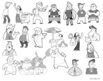 Character designs I did for Day Of Fun Pictures.