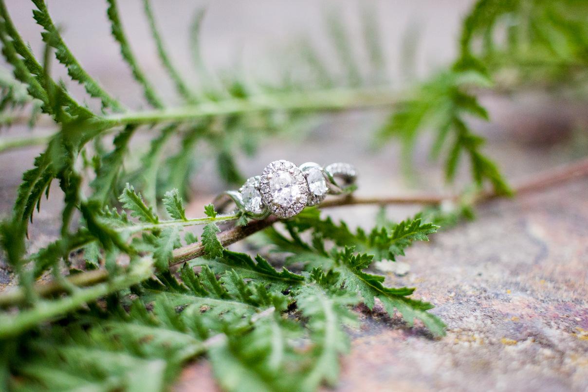 diamond ring engagement photos