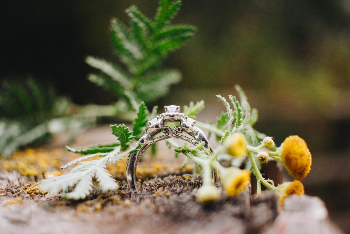 custom ring, yellow flowers