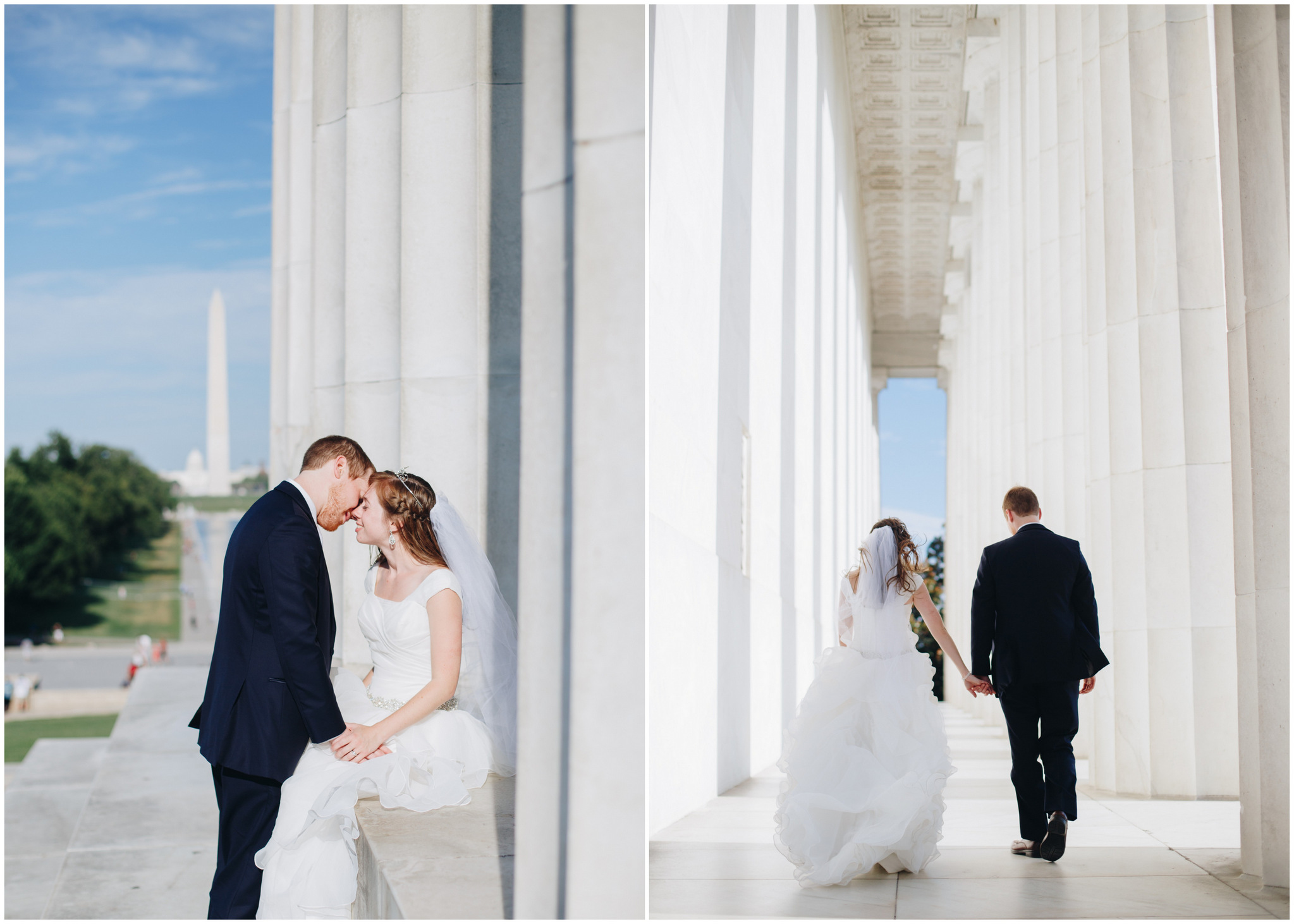 washington dc, lincoln memorial wedding photos, couple portraits washington memorial
