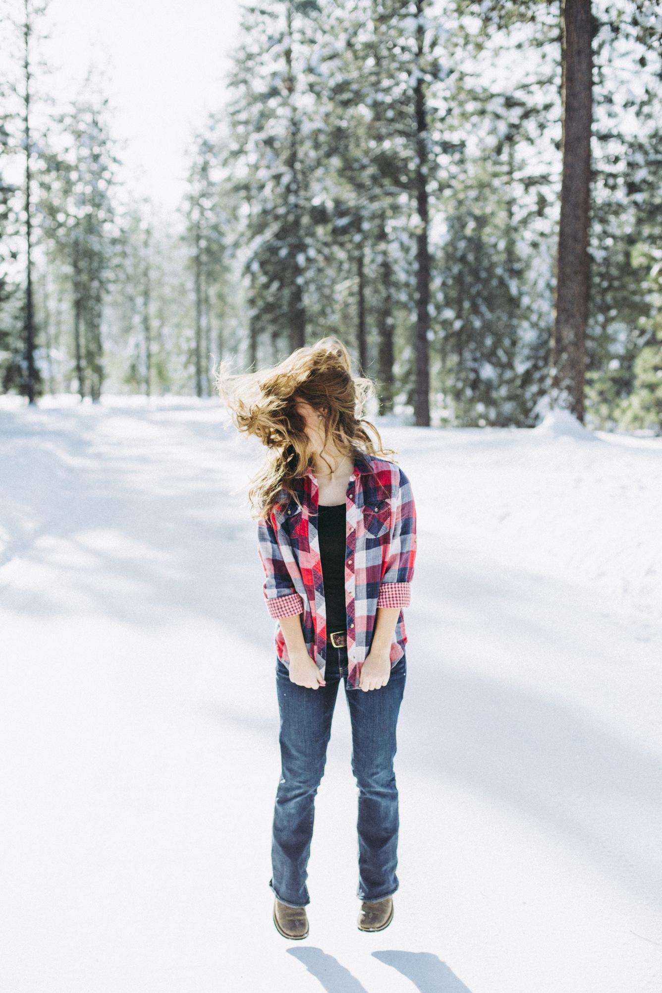 anna - snow portrait session