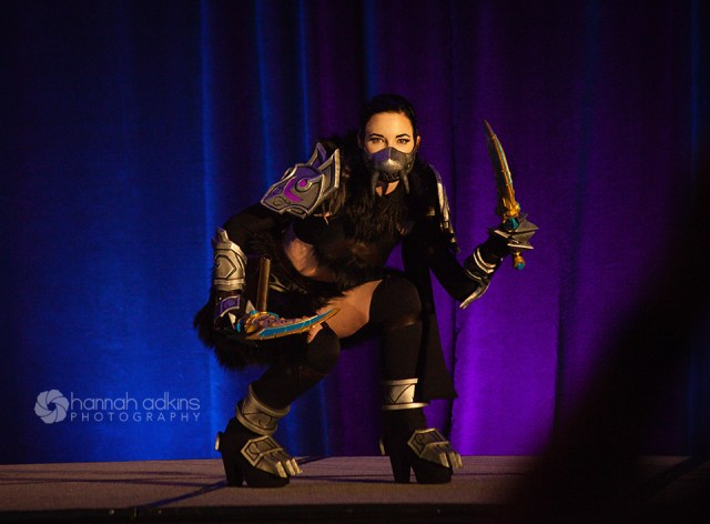 Cosplayer at the cosplay fashion show