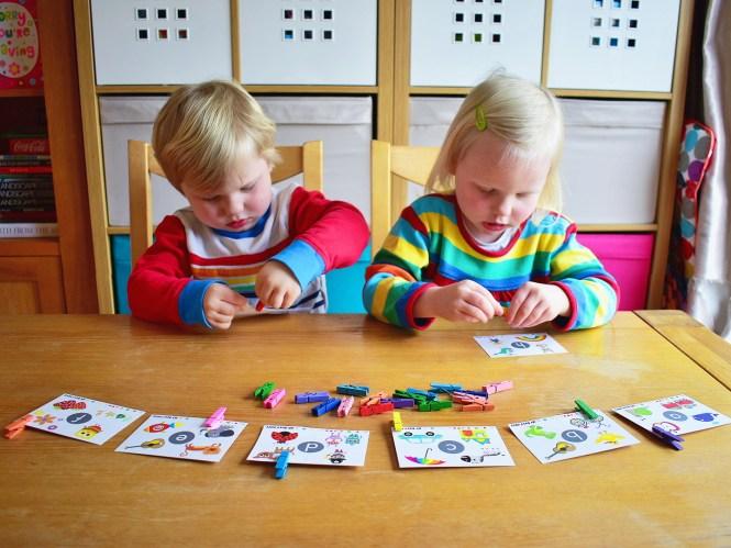 peg preschooler activity