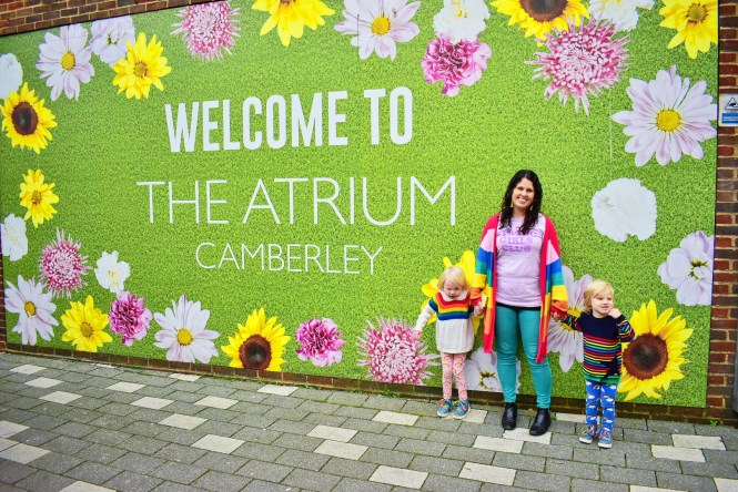 Family day out at the Atrium Camberley