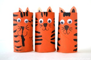 tiger toilet roll craft