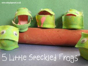 spring frogs craft