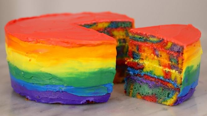 double rainbow cake recipe