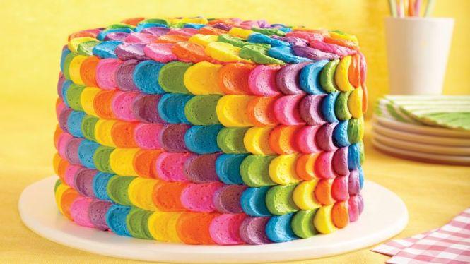 rainbow petal cake recipe