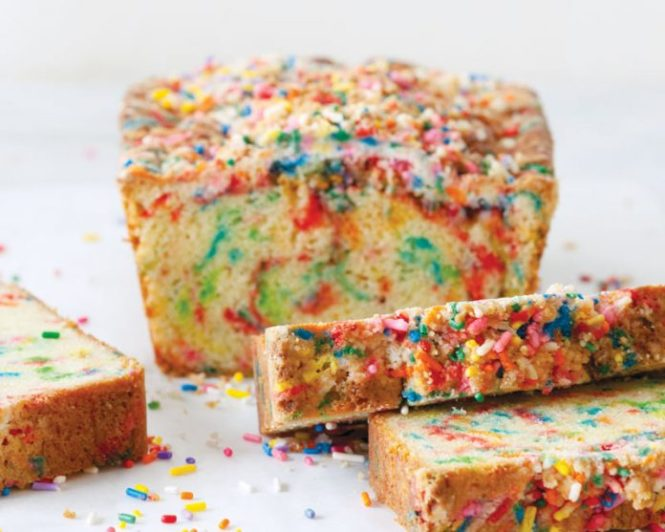 rainbow sprinkle bread