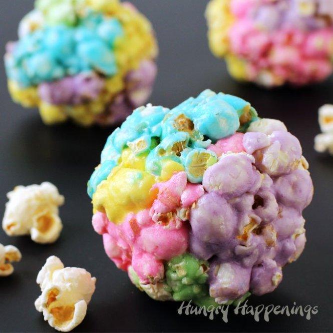 rainbow popcorn balls recipe