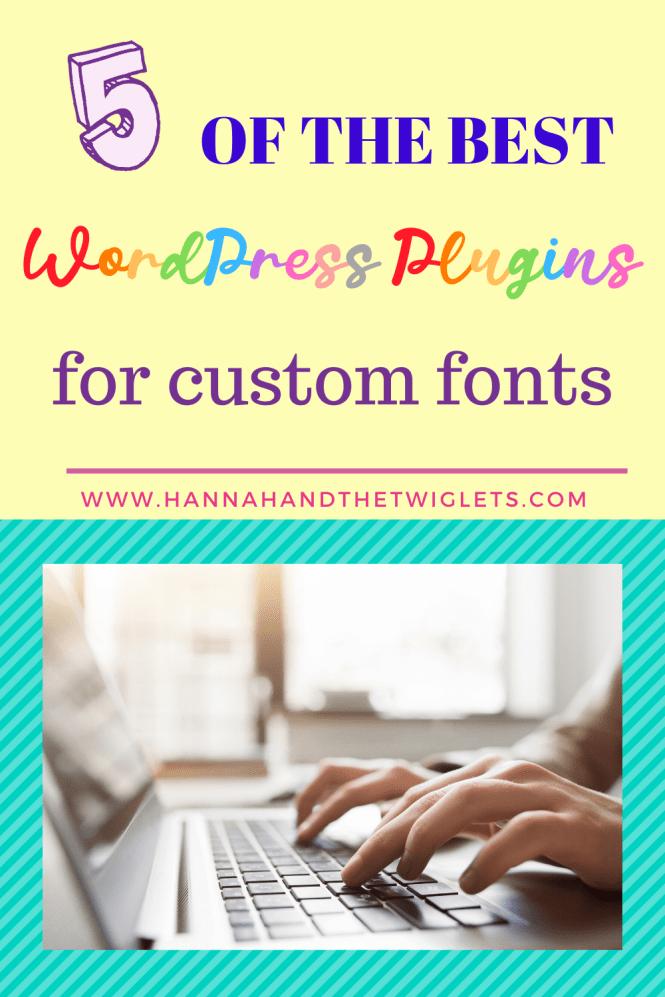 best WordPress plugins for custom fonts