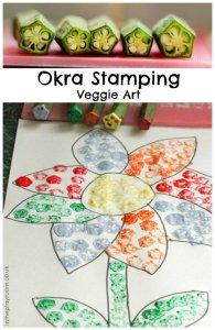 okra flower stamping