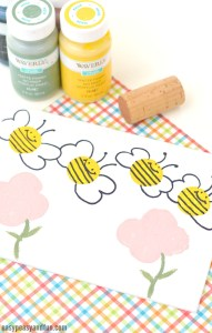 bee stamping craft idea