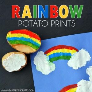 rainbow potato stamping activity for kids