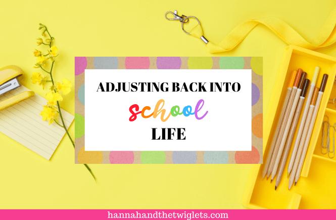 adjusting back into school life living arrows