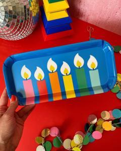rainbow melamine tray Christmas decorations