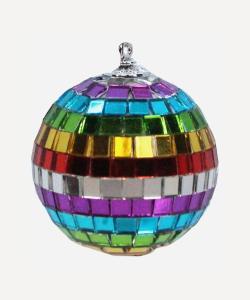 rainbow mirror ball bauble Liberty