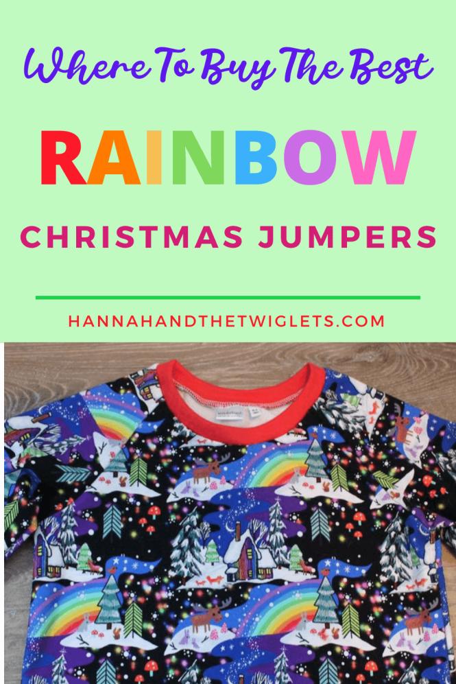 Rainbow Christmas jumpers Pinterest