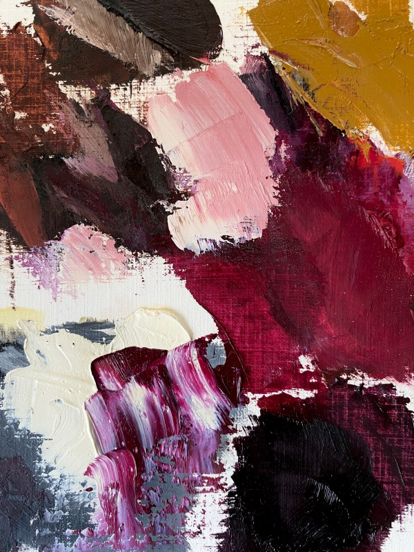 detail image of oil paint palette Dallas, Texas artist Hannah Brown used to paint Dolce & Crowbbana