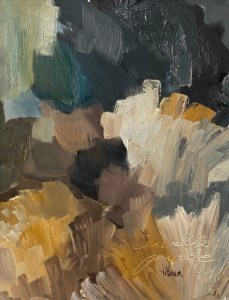 paint palette - abstract oil painting by Dallas, Texas artist Hannah Brown