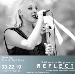 Raw Reflect art show, featuring The Artist Haa march 22 2019