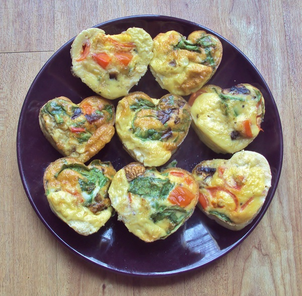 Egg muffins on plate