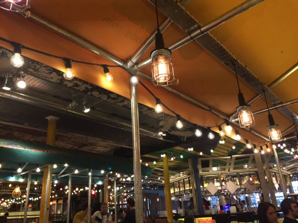 Lights at Turtle Bay restaurant in Manchester