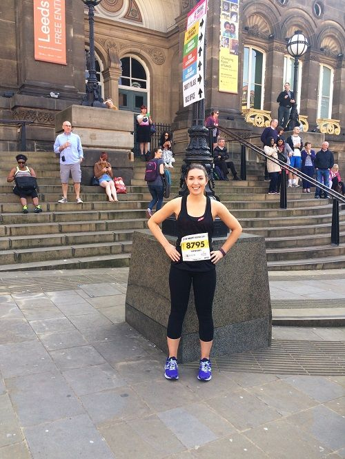 Hannah at leeds half marathon