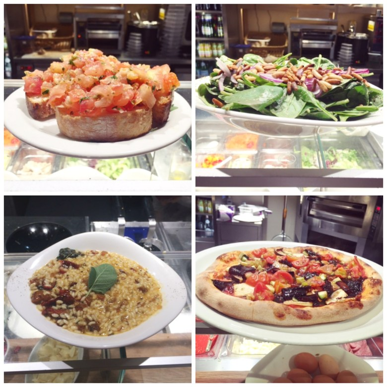 Vapiano food collage
