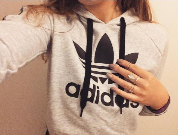 Adidas hoody on girl
