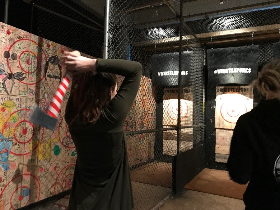 Axe throwing whistle punks