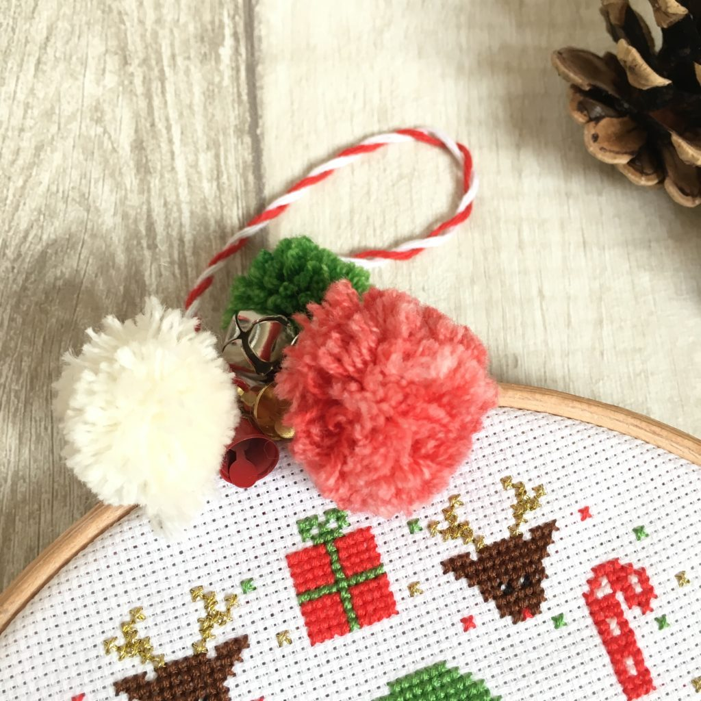 pom-poms-on-embroidery-hoop