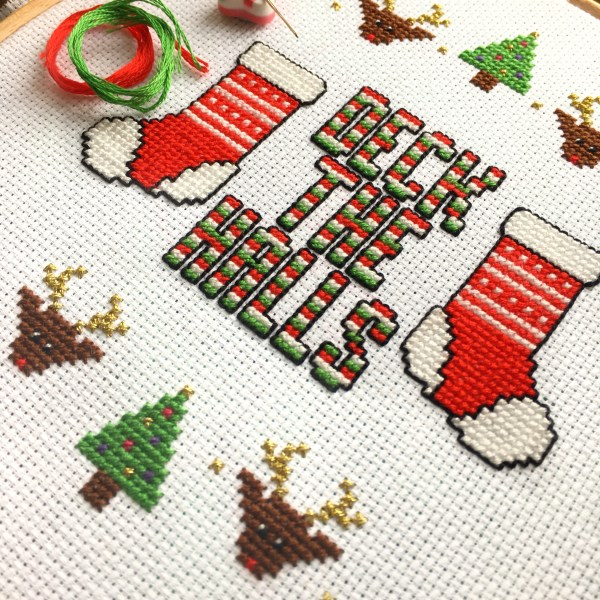 deck-the-halls-cross-stitch-work-in-progress