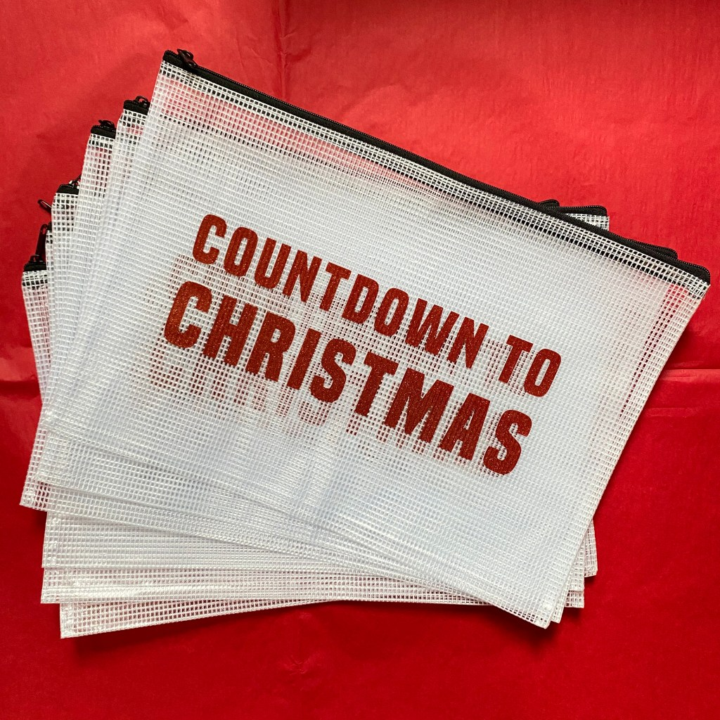 countdown to christmas project pouch