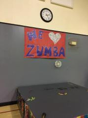 The Zumba stage is all set up and ready to go for the Zumbathon event. Saturday, February 18, 2017.