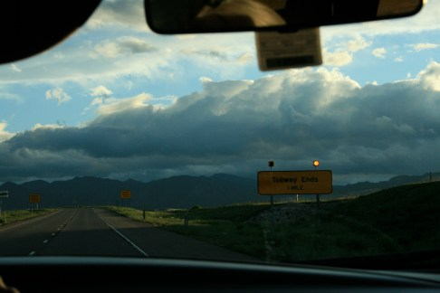Driving Into the Mountains