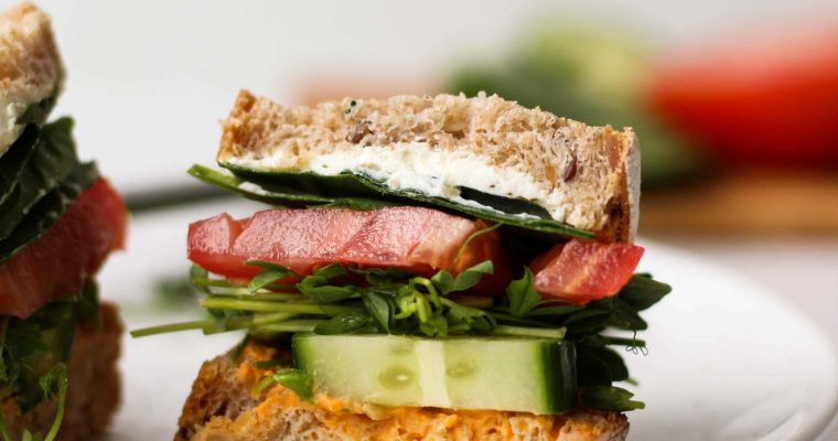 How to Build an Epic Vegetarian Sandwich