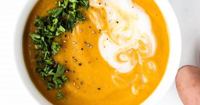 Creamy Butternut Squash and Sweet Potato Soup