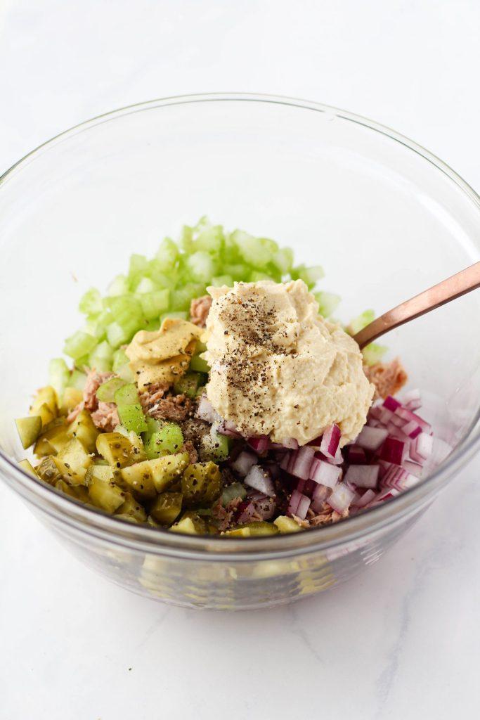 Healthy tuna salad ingredients