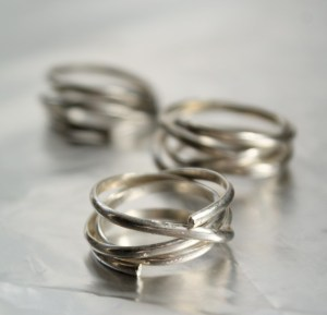 going in circles ring, silver