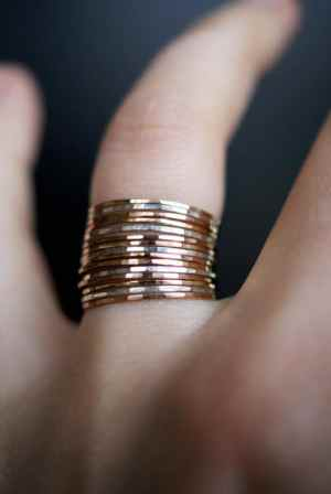 set of 15 mixed metal rings