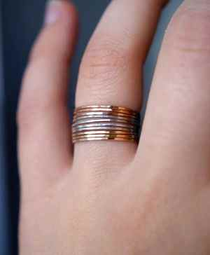 set of 10 mixed metal rings